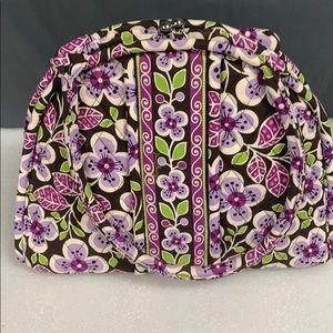Vera Bradley Plum Petals Eloise Kisslock Purse Bag